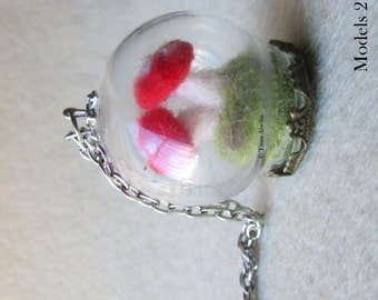 Globe Necklace - Quilling - Felting