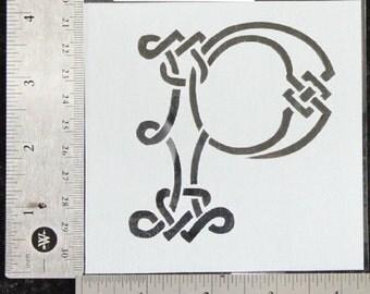 Celtic Knot K Monogram Cake Topper