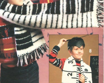 Knitting Pattern Piano Keyboard : Piano scarf pattern Etsy