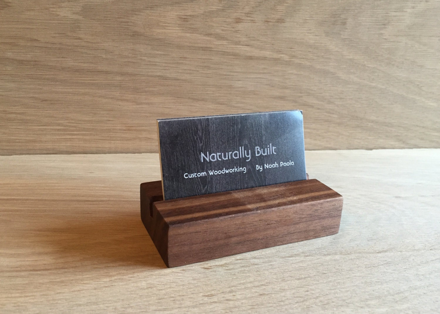 Wood Business Card Holder by NaturallyBuilt on Etsy