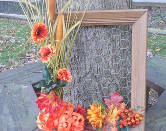 Fall Picture Frame Wreath