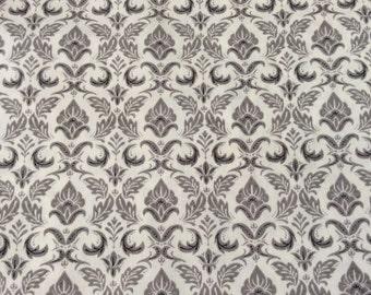 """Moda Fabric """"Black Tie Affair"""" by Basic Grey - One Yard Cut - cream and grey  #30421 12"""