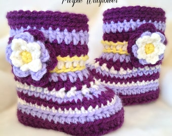PURPLE WILDFLOWER-Alaskan Floral Booties