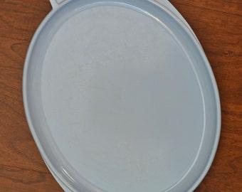 Vintage Pale Blue Boonton Melmac Winged Serving Platter #606-14 1/2