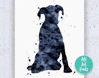 Boxer Print Boxer Dog Print Boxer Art Boxer Dog Decor Boxer Poster Dog Wall Decor Watercolor Wall Art Watercolor Printable