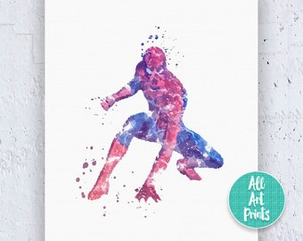 25% OFF: Spiderman Print Spiderman Poster Spiderman Art Spiderman Wall Art Spiderman Decor Superhero Poster Watercolor Download Instant Down