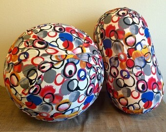 Birth and Peanut Ball Cover combo with Handle, Exercise/Yoga Ball Cover, peanut ball cover, birth ball cover - CIRCLES BALL  COMBO
