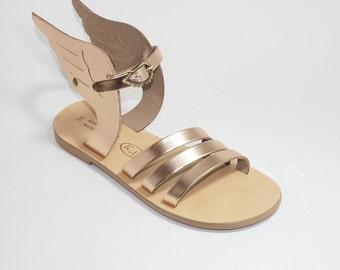 Greek Leather Sandals ( Crete) (38, 39, 41 - Silver)