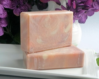 Autumn Fig Scented Handmade Cold Process Soap, Artisan Bar Soap, Purple Red Fall Soap
