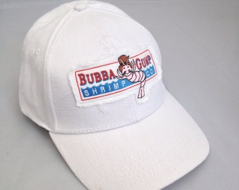 Bubba Gump Shrimp embroidered baseball Cap White
