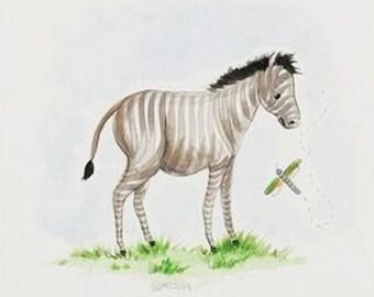 Zebra Safari Print, Safari Print, zebra print, safari decor, childrens decor, childrens prints, baby and kids art, zebra, black and white