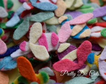 Multi Coloured Felt Bees, Mixed Colour Bees, Felt Insects, Decorative Bee, Die Cut Bees, Felt Craft Shapes, Die Cut Felt Craft Embellishment