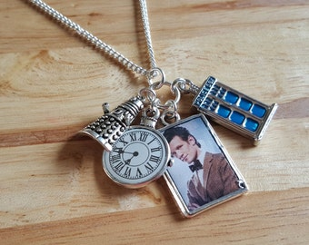Doctor who, 11th Doctor, Matt Smith handmade charm necklace