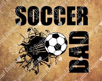 Soccer Dad SVG - Png - Dxf - Eps - Fcm - Ai Cut file - Silhouette - Cricut - Soccer - Soccer Cut File - Soccer SVG File - Soccer design