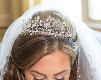 Bridal Tiara Head Piece Swarovski Crystal Custom Made