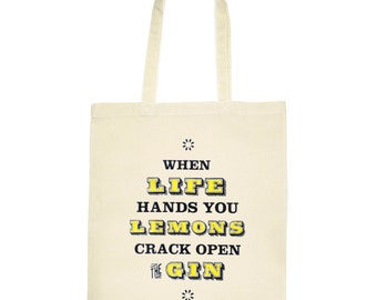 When Life Hands You Lemons gin bag