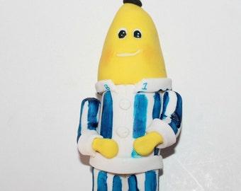 Banana And Pyjamas Edible Cake Topper