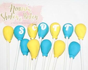 12x Balloons Birthday Fondant Cake Topper Edible