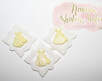 12x Edible Girls Princess Fairy Fondant Cupcake Toppers