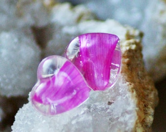 REAL FLOWER EARRINGS - Transparent Resin Jewelry