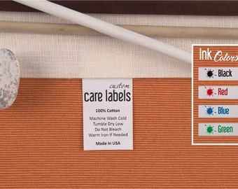 Custom Care Labels, Polyamide Care Tags, Sewing Care Labels, Custom Fabric Labels, Custom Garment Tags, Custom Sewing Labels, Sew In Labels