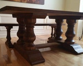 Double Pedestal farmhouse table