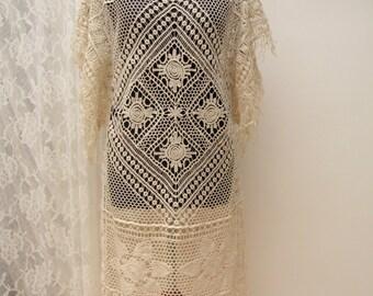 Lace Festival Dress, Bohemian dress, boho cotton dress, gypsy dress, Beach Cover Up, Beach dress