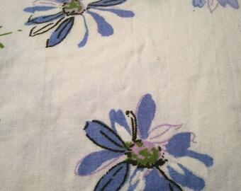 Dan River Blue Flower Twin Fitted Sheet