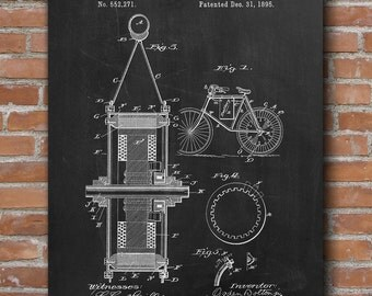 Electrical Bicycle Patent, Bike Art, Bicycle Print, Bicycle Wall Art, Patent Print - DA0510
