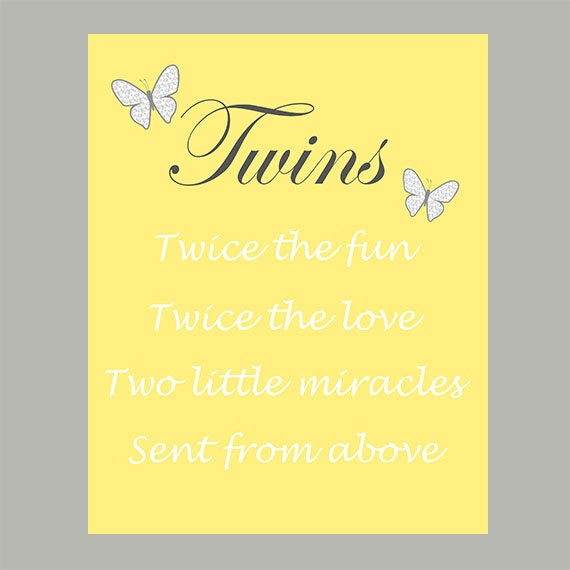 Twin Baby Girl Quotes: Items Similar To Nursery Quote Wall Print, Baby Twins