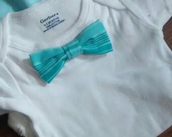 White Bow Tie Onsie set