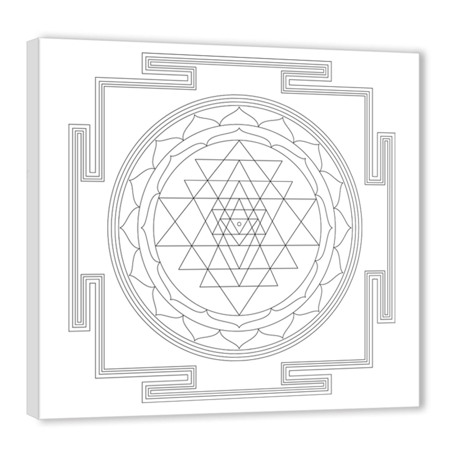 Sri Yantra Art Therapy Coloring Canvas Canvas Coloring on