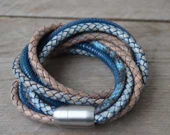 Leather bracelet 'Cape Town' with magnetic clasp