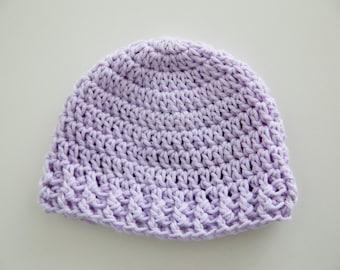 Crochet Violet Newborn Hat