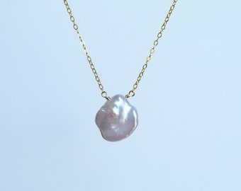 Pearl necklace, freshwater pearls with gorgeous luster, 14k gold-filled sterling silver, June, gift ideas for her, Transformation and Beauty