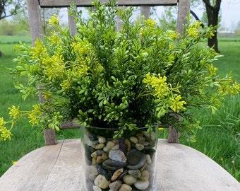 Silk Foliage Bush, Tealeaf Berry Bush, Silk Greenery Bush, DIY Artificial Floral Decor