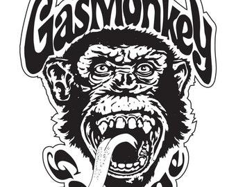 Gas Monkey Garage Vinyl Sticker Diecut 4 Stickers