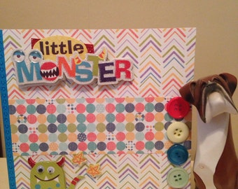 Little monster birthday card