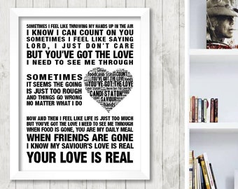 Candi Staton You've got the love Music Love Song Lyrics Word Art Print Poster Heart Design Wall Decor Framed Picture Gift Free UK Post
