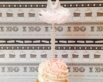 Tutu Cupcake Toppers, Bridal/Wedding