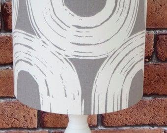 20cm Drum Grey Lampshade in Scion's Loop Fabric