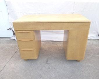 Heywood Wakefield M314 white book shelf writing desk