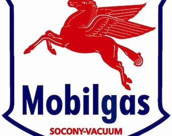 Mobilgas Socony Mobiloil Metal Sign Vintage Advertising Reproduction Garage Art FREE shipping