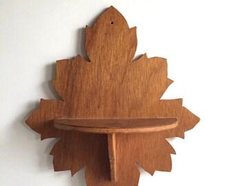 Vintage Leaf shelf/ Vintage Wood Shelf/Vintage Decor