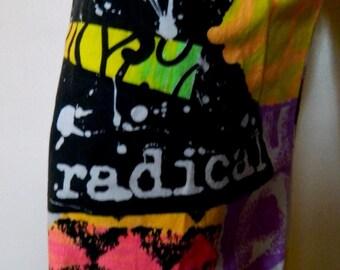 Vintage 80's Radical Cotton NEON Beach Skate Surf Pants