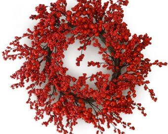 "24"" Red Berry Wreath"