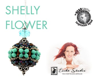 Shelly Flower beaded bead - instant dowload for the pdf instructions for a top-notch beadwork project!