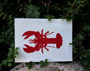 Classic Lobster Silhouette Wall Art
