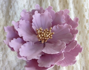 Purple peony sugar flower for wedding cake toppers, bridal showers, baby showers, custom cake decoration, gumpaste toppers, diy brides