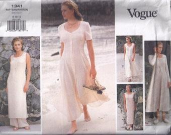 Misses' Petite Dress & Pants  - 1990s